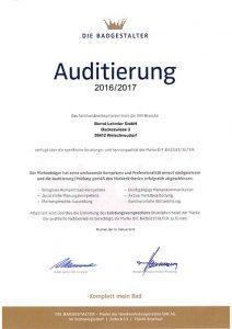 Lehmler DIE BADGESTALTER: Auditierung 2016 / 2017