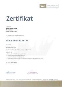 Lehmler Welschneudorf: Zertifizierung DIE BADGESTALTER 2013