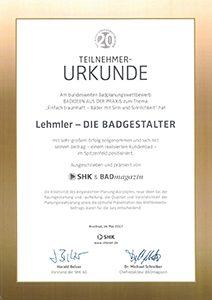 Lehmler Welschneudorf: Badplanungswettbewerb Badideen aus der Praxis 2016/2017 zum Thema