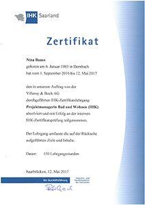 Lehmler Welschneudorf: Nina Baues hat sich zertifiziert: IHK-Zertifikatslehrgang