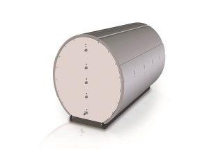 Der große Warmwasserspeicher besteht aus einzelnen Modulen. Bild: Paradigma