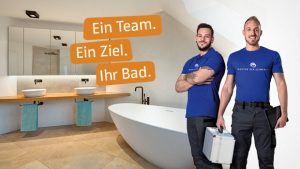 Gute Fachhandwerker bauen Ihr Komplettbad genau nach Plan und halten sich an die vereinbarten Terminabsprachen.